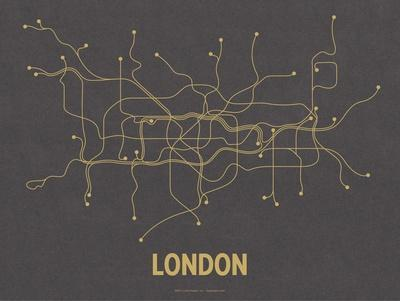 London (Dark Gray & Mustard)