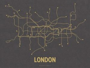 London (Dark Gray & Mustard) by LinePosters