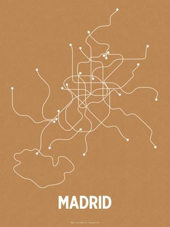 Madrid (Orange & Pearl White) by LinePosters