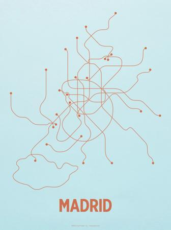 Madrid Screen Print Light Blue by LinePosters