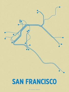 San Francisco (Cement & Blue) by LinePosters