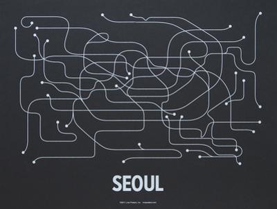 Seoul Screen Print Black by LinePosters