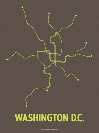 Washington D.C. (Charcoal Brown & Lime) by LinePosters