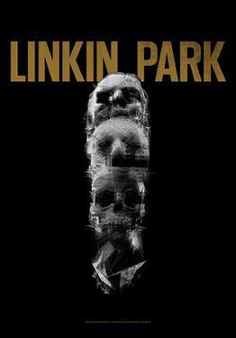 Linkin Park - Skull Totem Fabric Poster