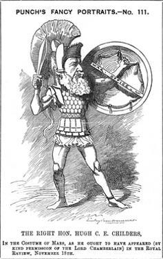 Hugh Childers Cartoon by Linley Sambourne