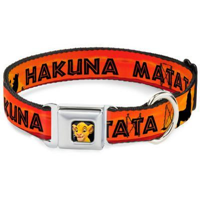 Lion King - Hakuna Matata Sunset Dog Collar
