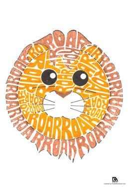 Lion Roar Text Poster