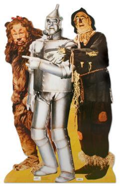 Lion, Tinman, And Scarecrow Lifesize Standup