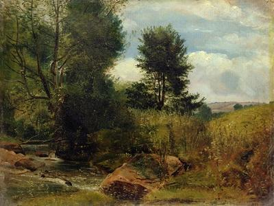 View on the River Sid, Near Sidmouth, C.1852