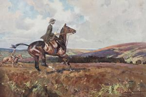 Moorland Gallup by Lionel Edwards