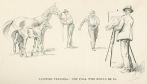 Painting Teresma - The Foal who would be in by Lionel Edwards