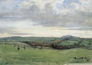 The Quorn, Coplow From Quemby by Lionel Edwards