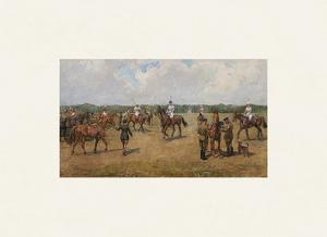 The Welsh Guard's Polo Team by Lionel Edwards