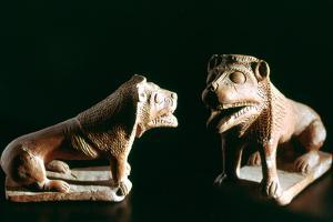 Lions, from Kerkouane, Tunisia, 3rd Century Bc