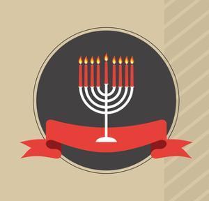 Happy Hanukkah, Jewish Holiday. by LipMic