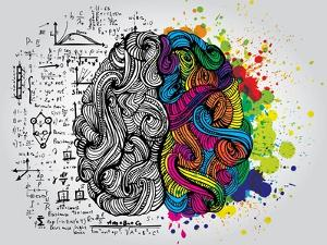 Creative Concept of the Human Brain, Vector Illustration by Lisa Alisa