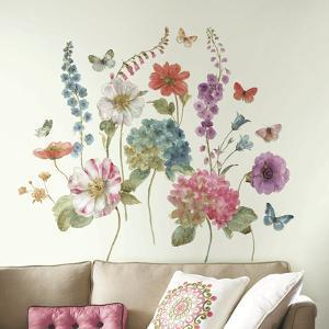 Lisa Audit Garden Flowers Peel and Stick Giant Wall Decals