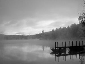 On The Dock BW by Lisa Colberg