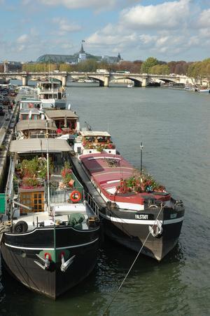France, Paris, riverboats on Seine River