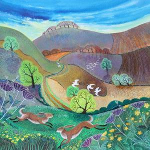 Downland Hares,2017 by Lisa Graa Jensen
