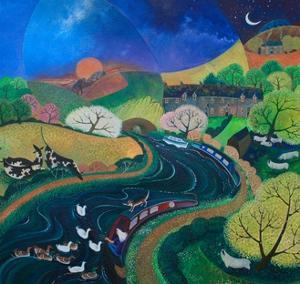 Moored Up for the Night, 2012 by Lisa Graa Jensen