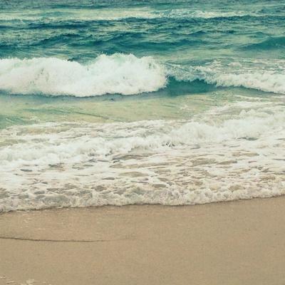Teal Waves I