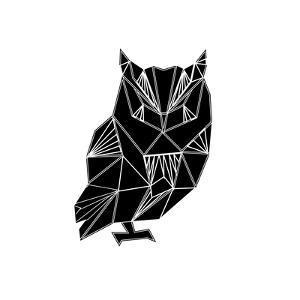 Black Owl Polygon by Lisa Kroll