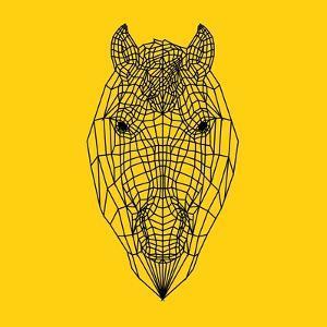 Horse Head Yellow Mesh by Lisa Kroll