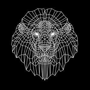 Lion Head Black Mesh by Lisa Kroll