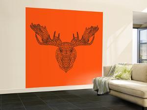 Moose Head Orange Mesh by Lisa Kroll