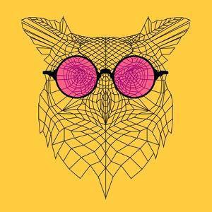 Owl in Pink Glasses by Lisa Kroll