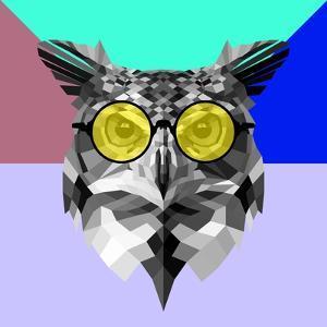 Owl in Yellow Glasses by Lisa Kroll