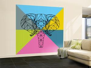 Party Elephant Polygon 2 by Lisa Kroll