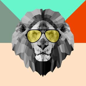 Party Lion in Glasses by Lisa Kroll