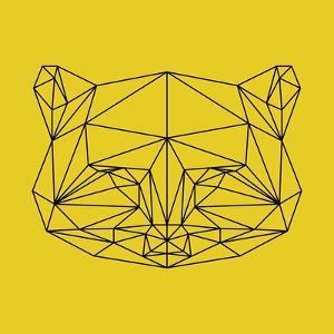Yellow Raccoon Polygon by Lisa Kroll