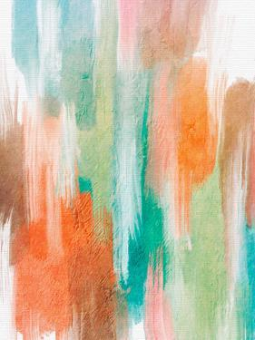 Orang Teal Abstract by Lisa Nohren