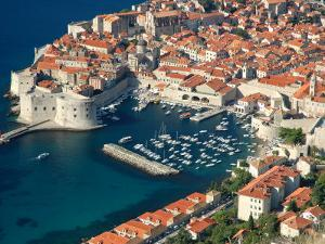 Aerial View of Medieval Walled City, Dubrovnik, Croatia by Lisa S. Engelbrecht