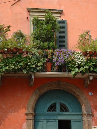 Balcony Garden in Historic Town Center, Verona, Italy