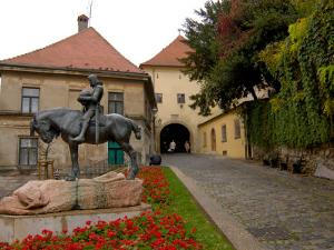 Bronze Statue of St. George, Stone Gate, Zagreb, Croatia by Lisa S. Engelbrecht