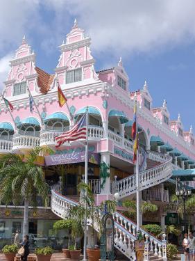 Dutch Architecture of Oranjestad Shops, Aruba, Caribbean by Lisa S. Engelbrecht