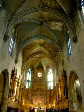 Gothic Interior of St. Pierre Church, Avignon, Provence, France by Lisa S. Engelbrecht