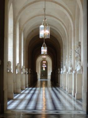 Hallway, Versailles, France by Lisa S. Engelbrecht