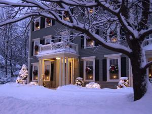 Home Decorated For Christmas, Reading, Massachusetts, USA by Lisa S. Engelbrecht