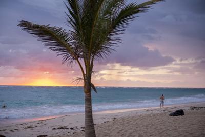 Man Jogging at Sunrise, Bavaro, Higuey, Punta Cana, Dominican Republic by Lisa S. Engelbrecht