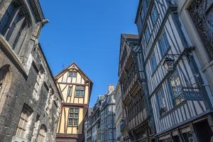 Medieval architecture, Rouen, Normandy, France by Lisa S. Engelbrecht