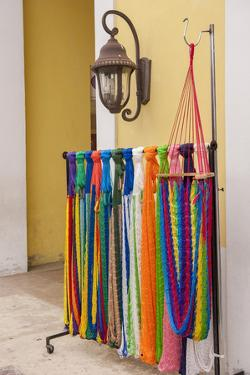 Mexican Handcrafts, Hammocks for Sale, Cozumel, San Miguel, Mexico by Lisa S. Engelbrecht