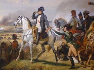 Painting of Napoleon in Hall of Battles, Versailles, France by Lisa S. Engelbrecht
