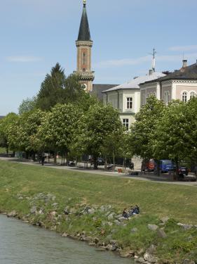 Riverbank of the Salzach River, Salzburg, Salzburg Stadt, Austria by Lisa S. Engelbrecht