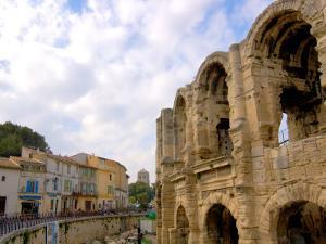 Roman Amphitheatre and Shops, Arles, Provence, France by Lisa S. Engelbrecht