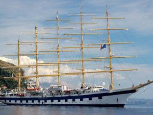 Royal Clipper in Harbor, Dubrovnik, Croatia by Lisa S. Engelbrecht